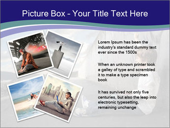 Triumphing child sitting PowerPoint Template - Slide 23