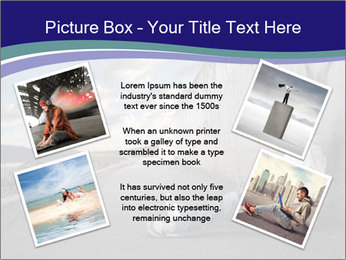 Triumphing child sitting PowerPoint Template - Slide 24