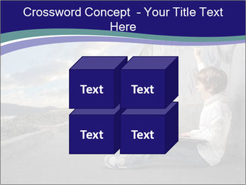 Triumphing child sitting PowerPoint Template - Slide 39