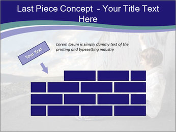 Triumphing child sitting PowerPoint Template - Slide 46
