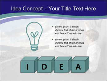 Triumphing child sitting PowerPoint Template - Slide 80