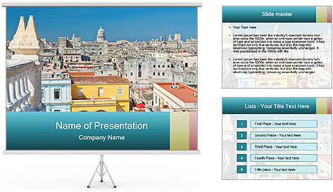 Colorful roofs PowerPoint Template