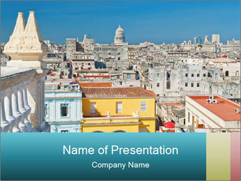 Colorful roofs PowerPoint Templates - Slide 1