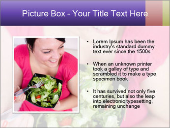 Woman eating a salad PowerPoint Templates - Slide 13