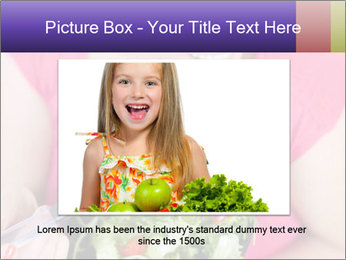 Woman eating a salad PowerPoint Templates - Slide 16