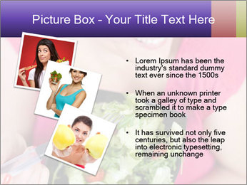 Woman eating a salad PowerPoint Templates - Slide 17