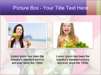 Woman eating a salad PowerPoint Templates - Slide 18