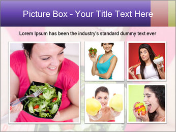 Woman eating a salad PowerPoint Templates - Slide 19