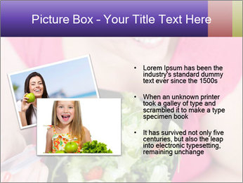 Woman eating a salad PowerPoint Templates - Slide 20