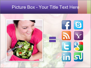 Woman eating a salad PowerPoint Templates - Slide 21