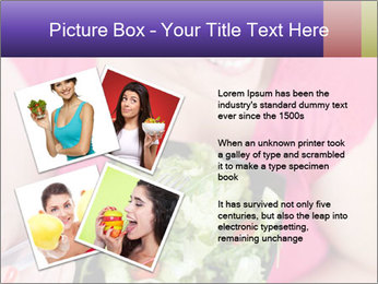 Woman eating a salad PowerPoint Templates - Slide 23