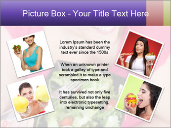 Woman eating a salad PowerPoint Templates - Slide 24