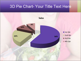 Woman eating a salad PowerPoint Templates - Slide 35