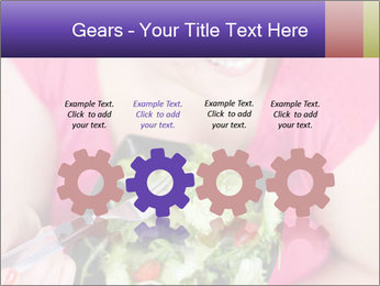 Woman eating a salad PowerPoint Templates - Slide 48