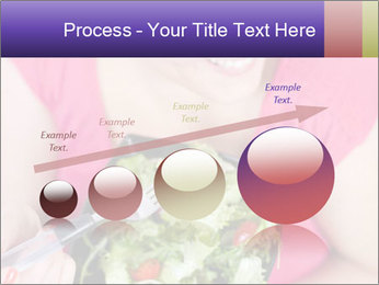 Woman eating a salad PowerPoint Templates - Slide 87
