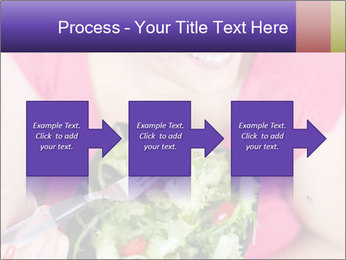Woman eating a salad PowerPoint Templates - Slide 88