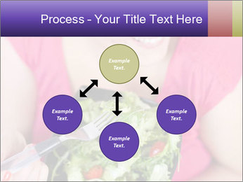 Woman eating a salad PowerPoint Templates - Slide 91