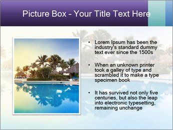 Tropical swimming pool PowerPoint Template - Slide 13