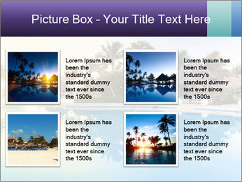 Tropical swimming pool PowerPoint Template - Slide 14