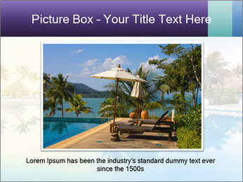 Tropical swimming pool PowerPoint Template - Slide 15