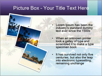 Tropical swimming pool PowerPoint Template - Slide 17