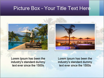 Tropical swimming pool PowerPoint Template - Slide 18