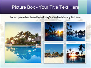 Tropical swimming pool PowerPoint Template - Slide 19