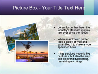 Tropical swimming pool PowerPoint Template - Slide 20