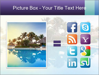 Tropical swimming pool PowerPoint Template - Slide 21