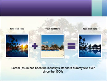 Tropical swimming pool PowerPoint Template - Slide 22