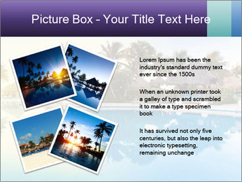 Tropical swimming pool PowerPoint Template - Slide 23