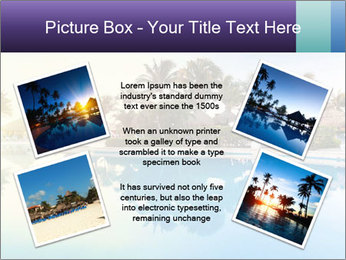 Tropical swimming pool PowerPoint Template - Slide 24