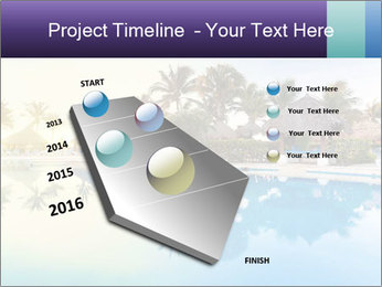 Tropical swimming pool PowerPoint Template - Slide 26