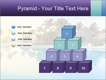 Tropical swimming pool PowerPoint Template - Slide 31
