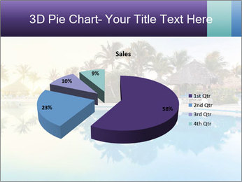 Tropical swimming pool PowerPoint Template - Slide 35