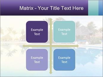 Tropical swimming pool PowerPoint Template - Slide 37