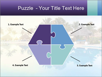 Tropical swimming pool PowerPoint Template - Slide 40