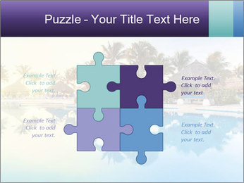 Tropical swimming pool PowerPoint Template - Slide 43