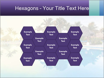 Tropical swimming pool PowerPoint Template - Slide 44