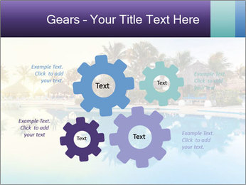 Tropical swimming pool PowerPoint Template - Slide 47