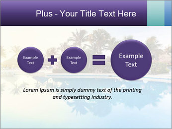 Tropical swimming pool PowerPoint Template - Slide 75