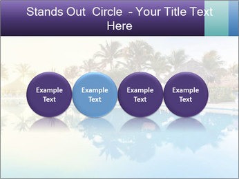 Tropical swimming pool PowerPoint Template - Slide 76