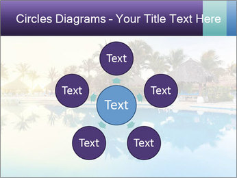 Tropical swimming pool PowerPoint Template - Slide 78