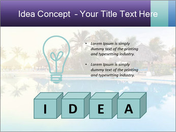 Tropical swimming pool PowerPoint Template - Slide 80
