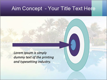 Tropical swimming pool PowerPoint Template - Slide 83