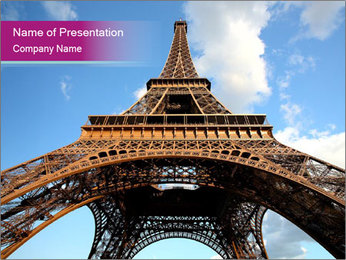 Eiffel Tower in Paris PowerPoint Templates - Slide 1