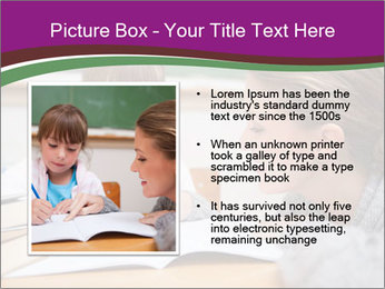 Cute schoolgirl PowerPoint Template - Slide 13