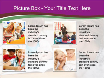 Cute schoolgirl PowerPoint Template - Slide 14