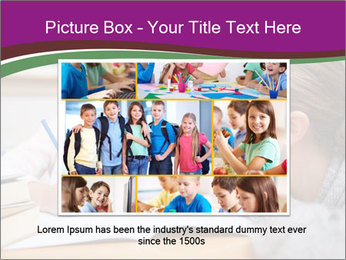 Cute schoolgirl PowerPoint Template - Slide 15