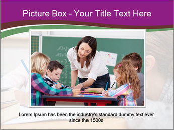 Cute schoolgirl PowerPoint Template - Slide 16